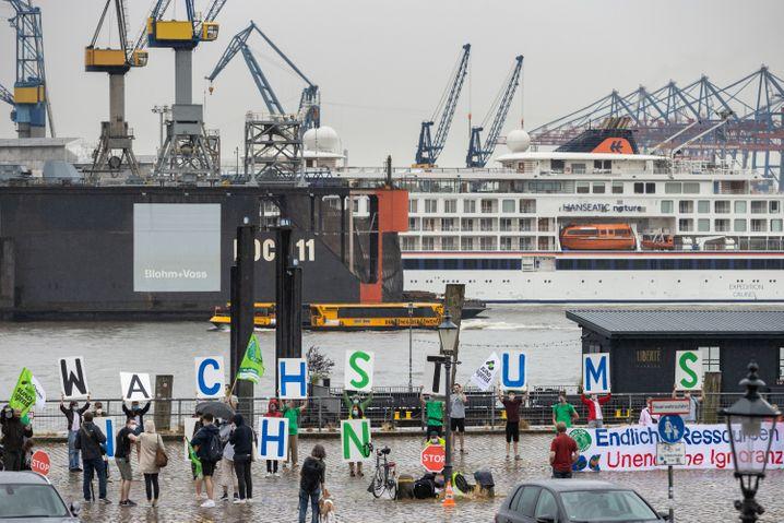 Klimaaktivisten in Hamburg