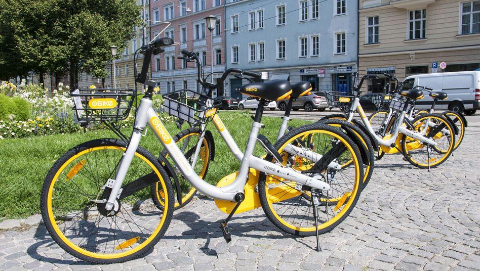 oBike-Leihräder in München