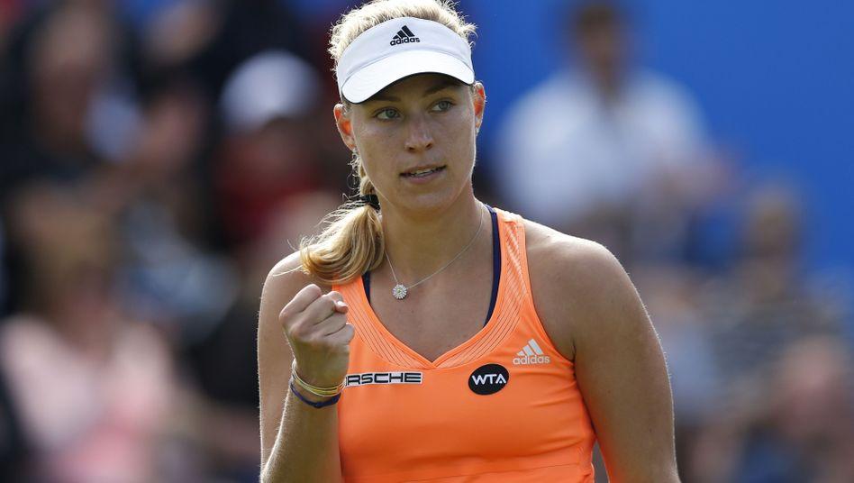 Tennisprofi Kerber: Erster Turniersieg auf Rasen