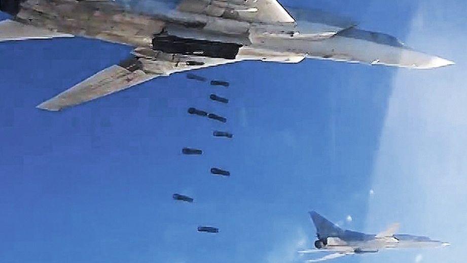 Russische Kampfbomber über Syrien