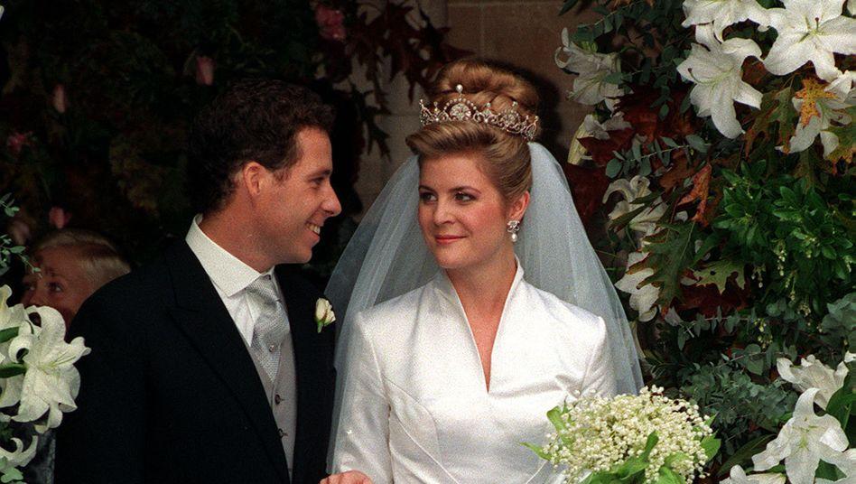 Ein Foto aus glücklicheren Tagen: David und Serena Armstrong-Jones bei ihrer Hochzeit im Oktober 1993