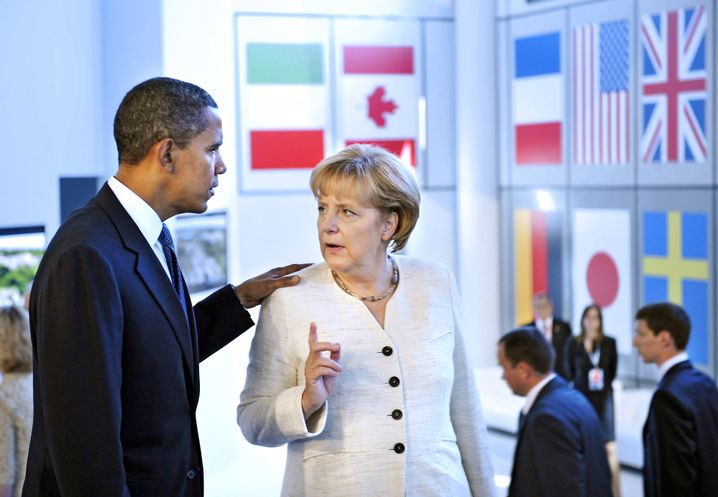 """Barack Obama und Angela Merkel: """"Ach, Sie haben schon gewonnen"""""""