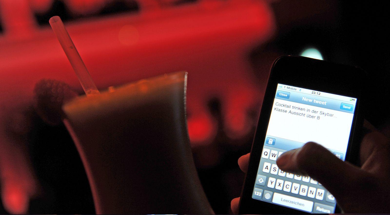 NICHT VERWENDEN Twitter Mobiltelefon SMS