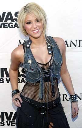 Die Kolumbianerin Shakira ist auch für ihre eigentümlichen Kostüme bekannt