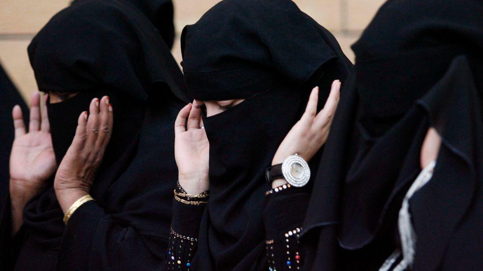 Saudi-Araberinnen beim Gebet in Riad (Archivbild)