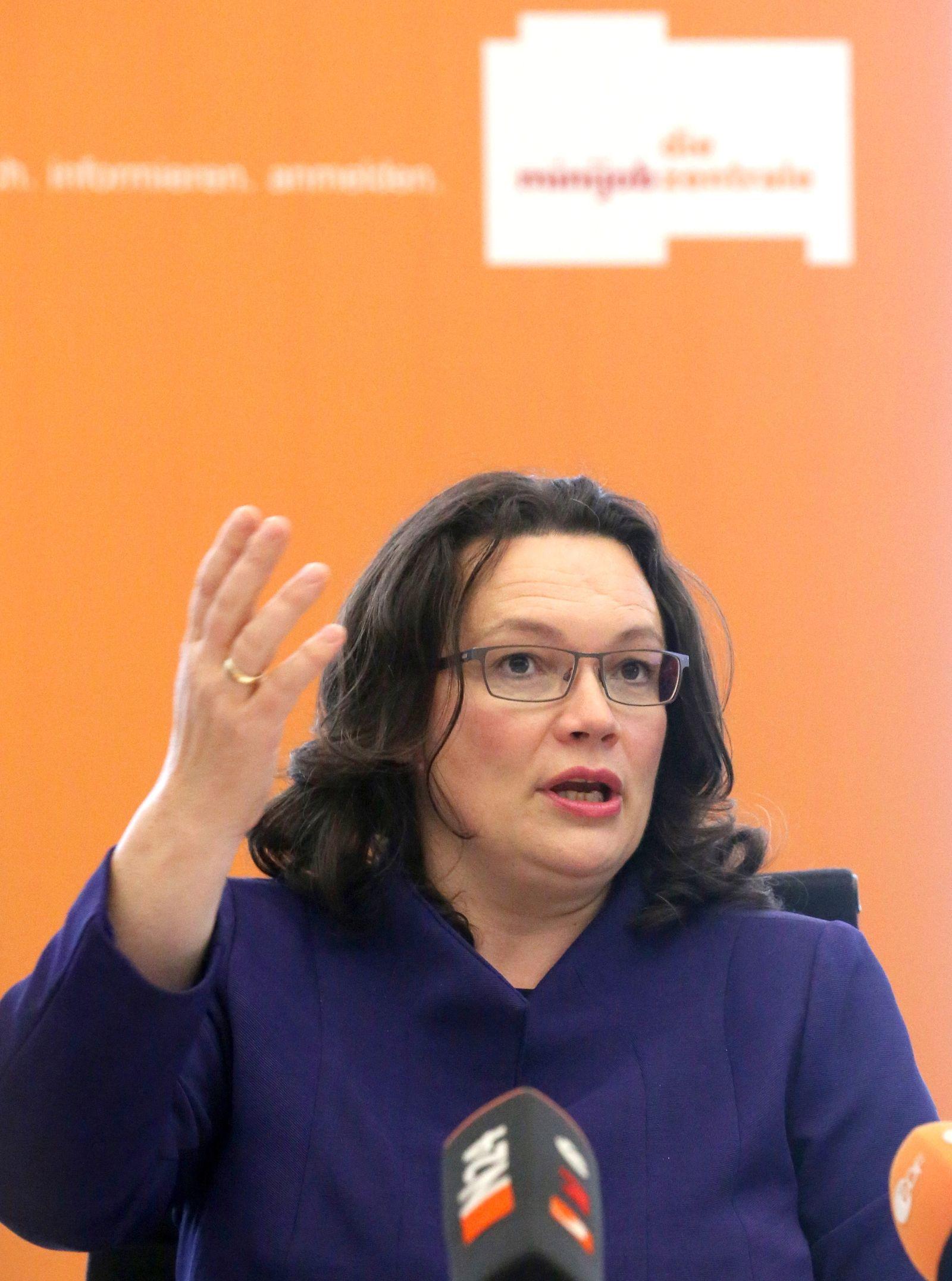 Bundesarbeitsministerin Nahles eröffnet Haushaltsminijobs-Börse