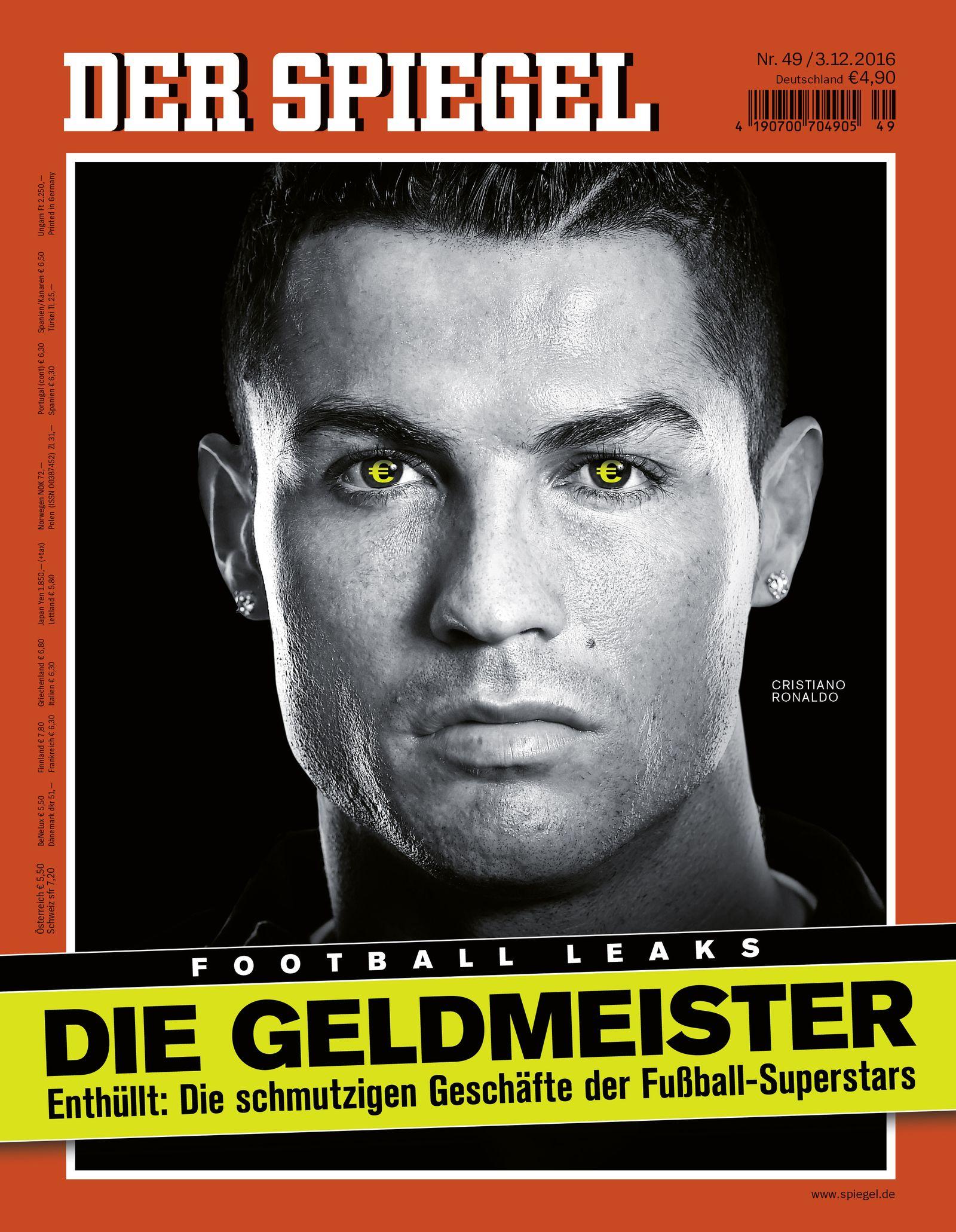 DER SPIEGEL 49/2016 Cover Titelbild Ronaldo