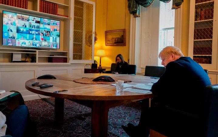 Premier Boris Johnson muss wegen seiner Corona-Infektion aus dem Homeoffice arbeiten