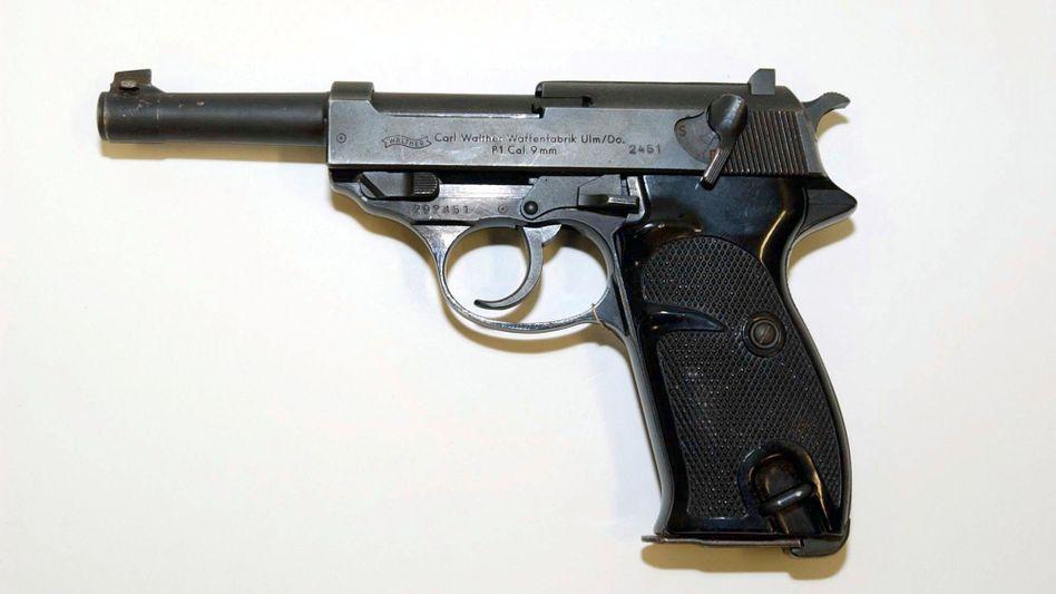 Eine Pistole des Models Walther P1