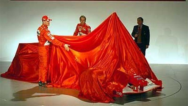 Ferrari-Präsentation: Schumacher greift nach der Sieben
