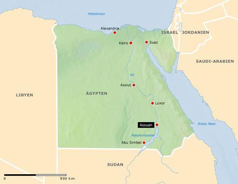 Assuan: Rund 220.000 Einwohner hat die Stadt am Nil/