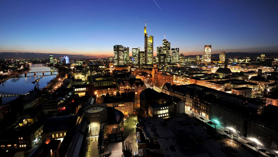 The Frankfurt skyline: European banks could be in trouble.