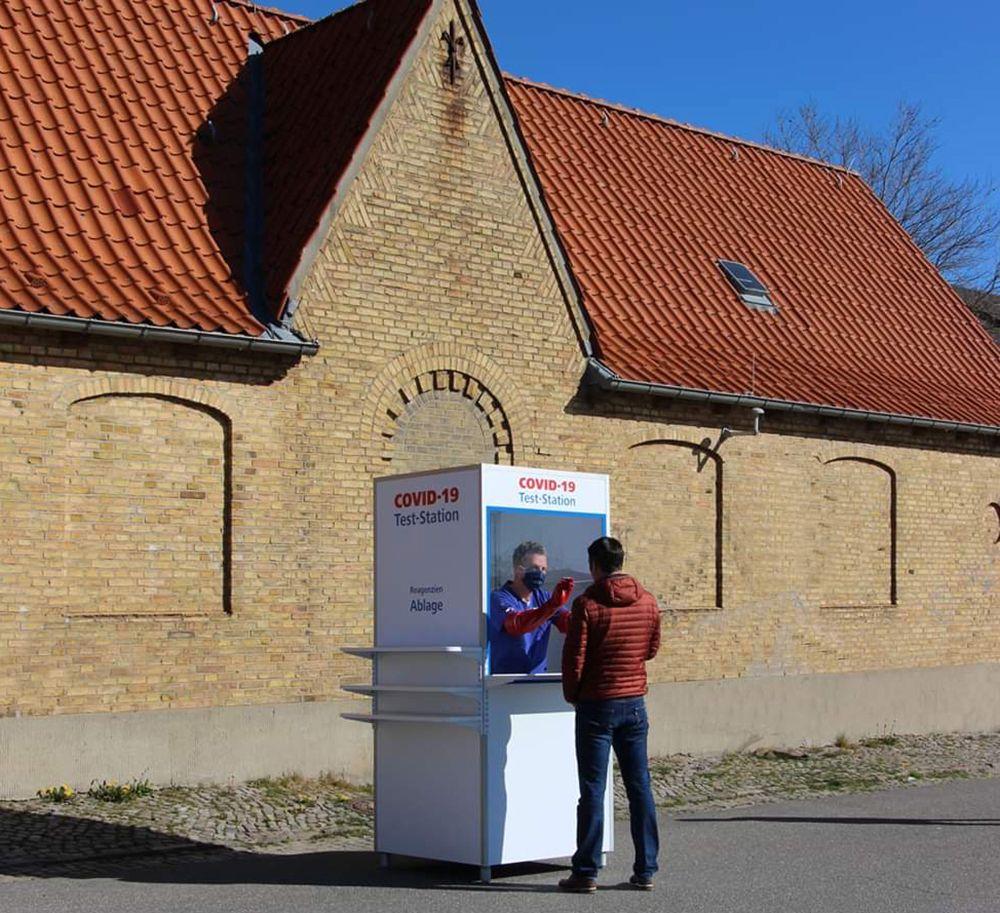 Messebau - Corona-Testbox und -Besucherbox