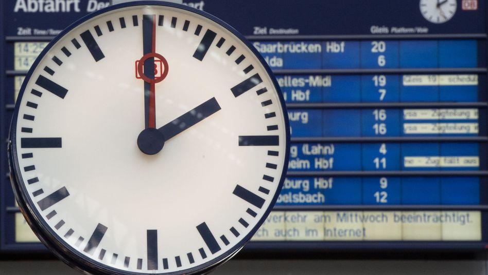 Bahnstreik: Verspätungen und Ausfälle am Wochenende