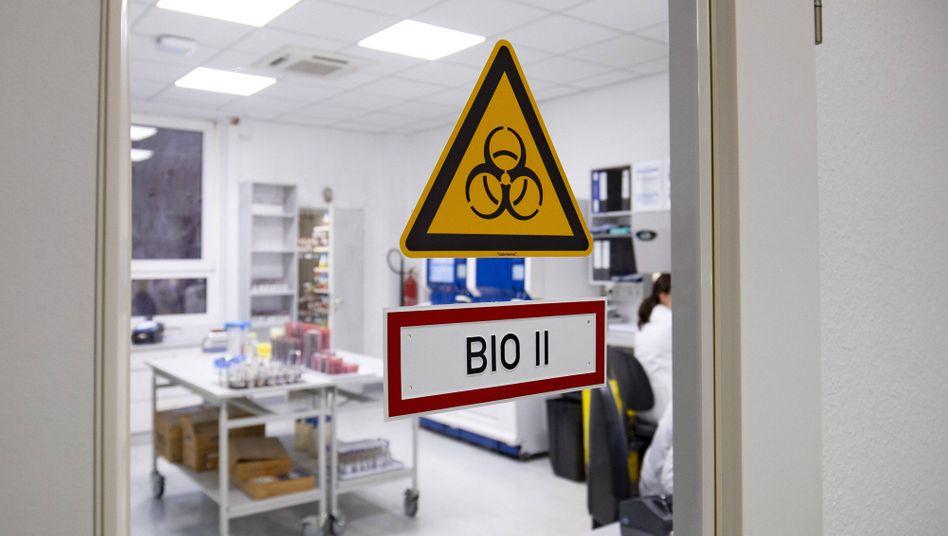 Labor für Corona-Tests in Münster