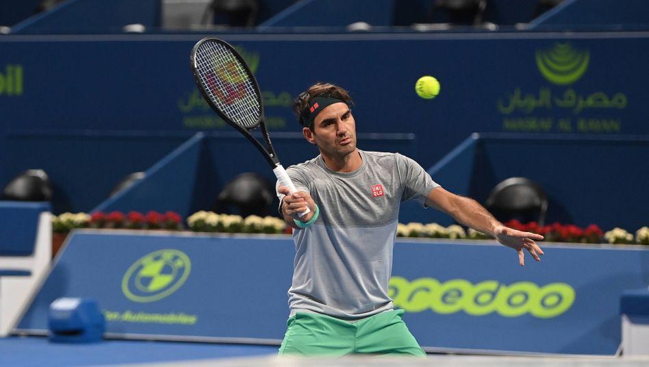 Roger Federer beim Training in Katar: »Habe das Gefühl, dass die Geschichte noch nicht zu Ende ist«