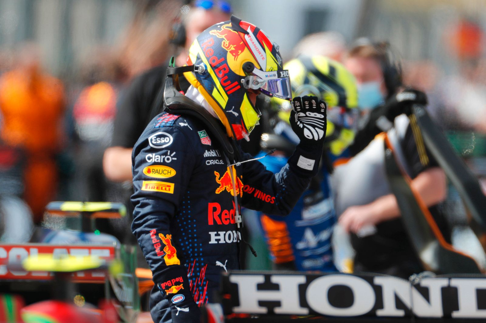 Formula 1 2021: Portuguese GP ALGARVE INTERNATIONAL CIRCUIT, PORTUGAL - MAY 02: Sergio Perez, Red Bull Racing, in Parc