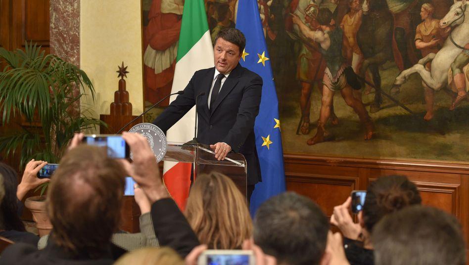 Matteo Renzi erklärt seinen Rücktritt