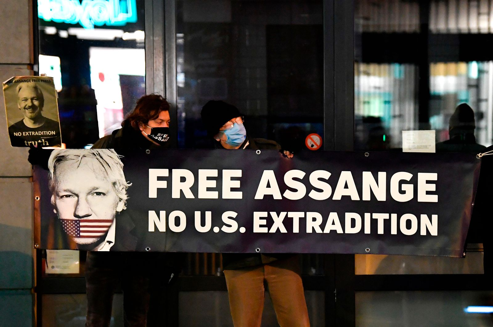 BELGIUM-BRITAIN-ASSANGE-EXTRADITION-DEMO