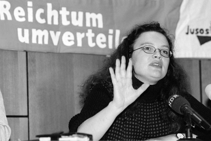 Andrea Nahles als damalige Juso-Chefin im Jahr 1997