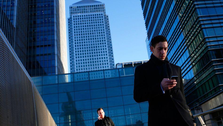 Londoner Finanzdistrikt Canary Wharf