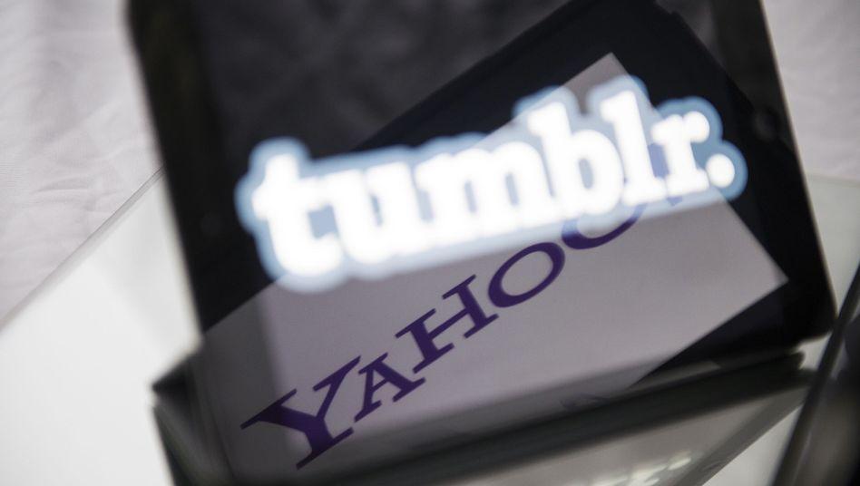 Tumblr- und Yahoo-Firmenlogos: Nächste schnell wachsende Internetfirma vom Markt