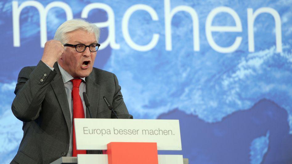 """Außenminister Steinmeier: """"Ihr solltet euch überlegen, wer hier die Kriegstreiber sind"""""""
