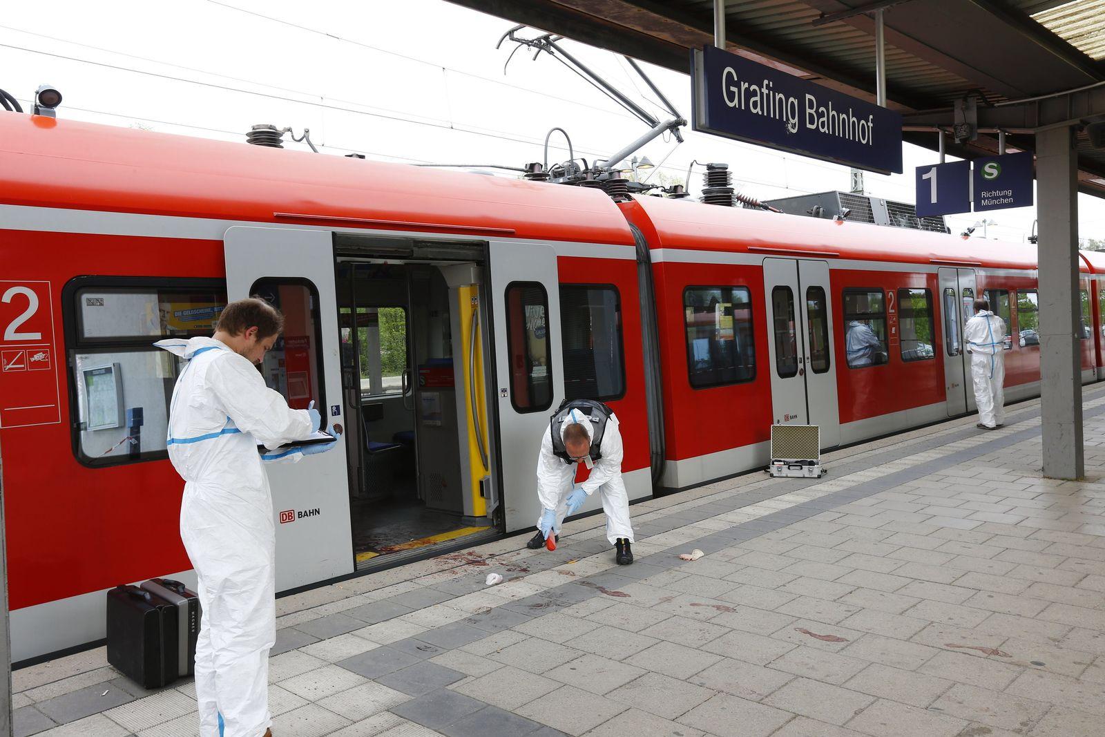 Grafing/ Messerattacke am Bahnhof