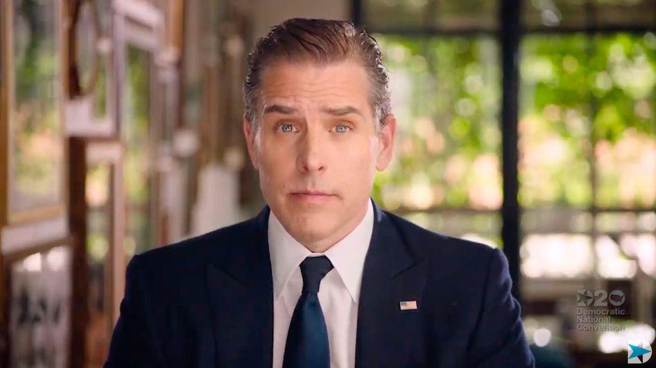 Hunter Biden in einer Videobotschaft beim Parteitag der US-Demokraten (2020)