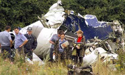 Absturzstelle der Tupolew-154: Spuren von Sprengstoff gefunden