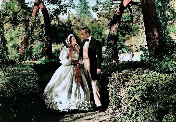 "Olivia de Havilland mit Leslie Howard in ""Gone With The Wind"" 1939"