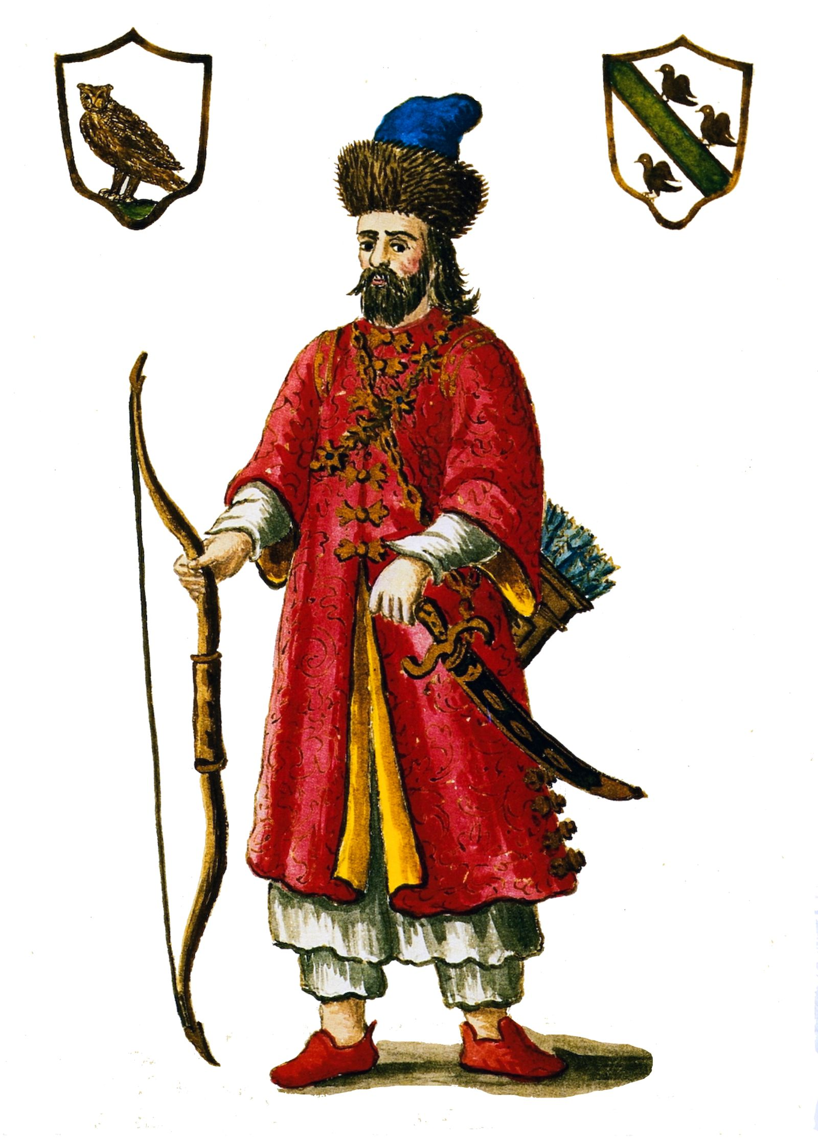Italy / China: Marco Polo (c.1254Ñ1324) depicted wearing 'Tartar' dress, 19th century