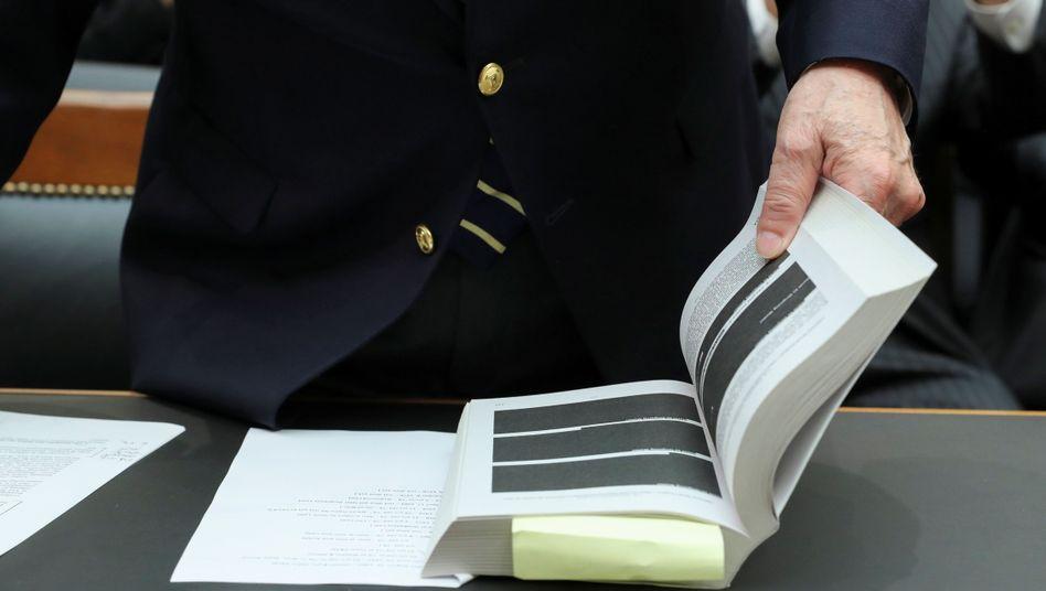 Teilweise geschwärzt: Der Bericht von Sonderermittler Robert Mueller in der Russlandaffäre