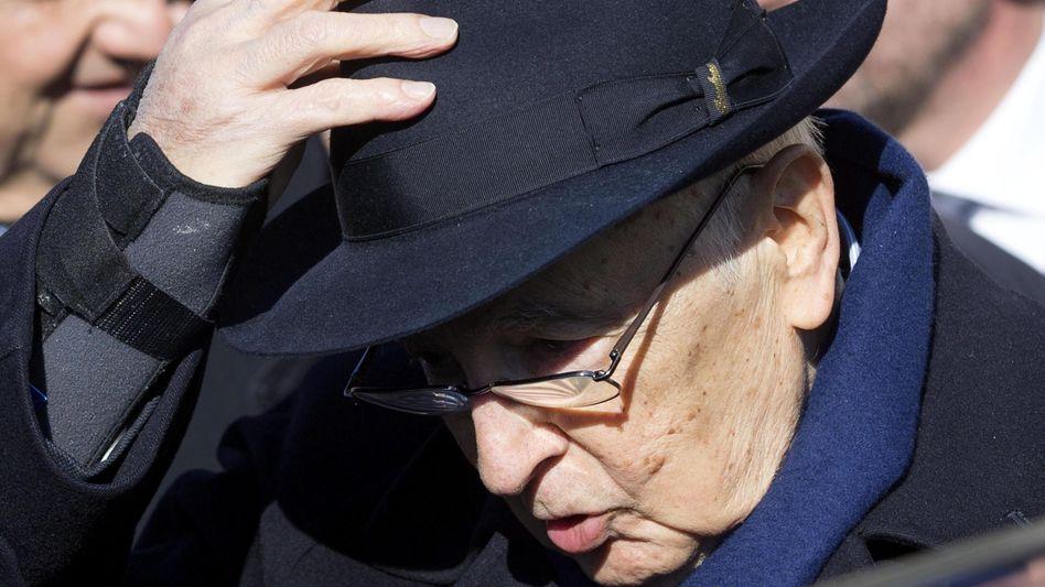 Italiens Präsident Napolitano: Fühlt sich körperlich angeschlagen