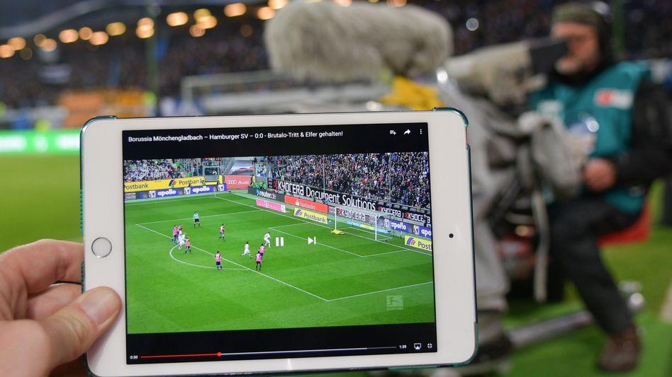 Fußball-Übertragung auf Sky