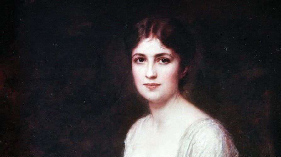 Porträt von Bertha Krupp in der Villa Hügel in Essen