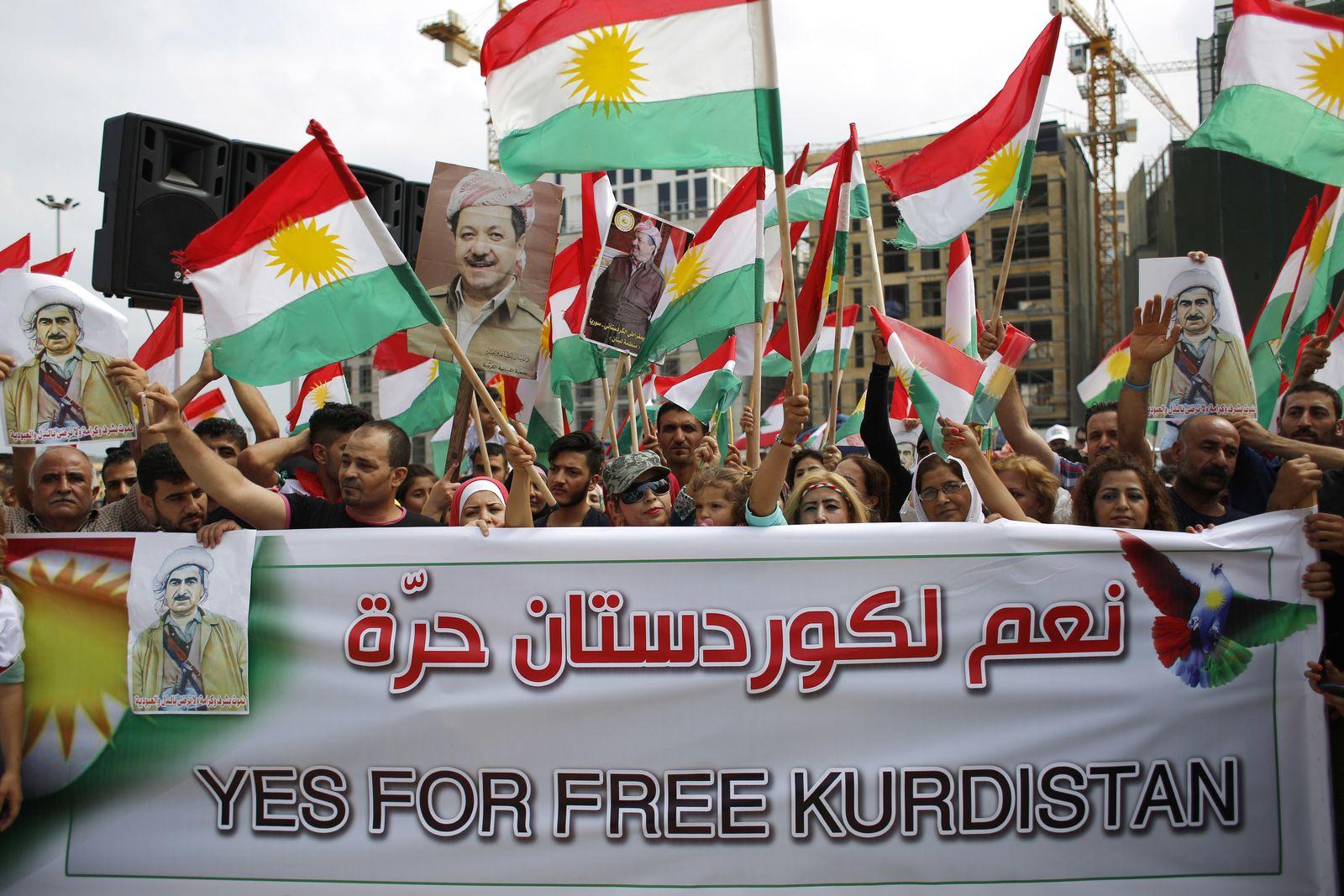 Demonstration für freies Kurdistan