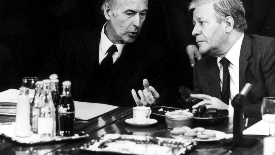 Helmut Schmidt mit Valery Giscard d'Estaing: Erfinder des Weltwirtschaftsgipfels