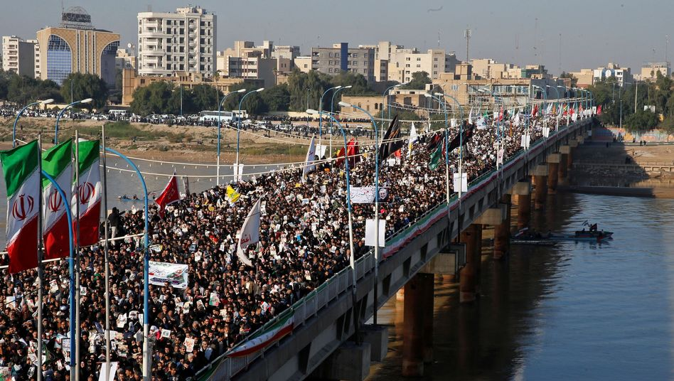 Trauerzug für Qasem Soleimani in Ahwas