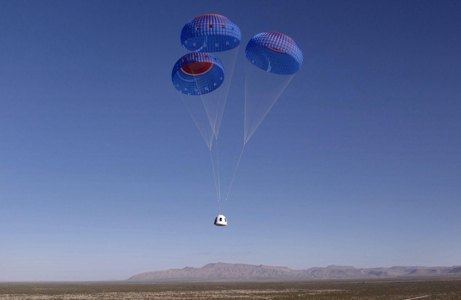 Blue Origin's NS-18 suborbital flight mission