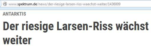 Larsen C / Screenshots / Headlines