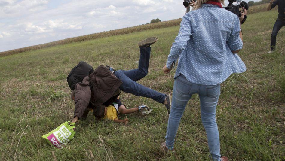 """Vorfall mit ungarischer Kamerafrau: """"Es war ein harter Tritt"""""""