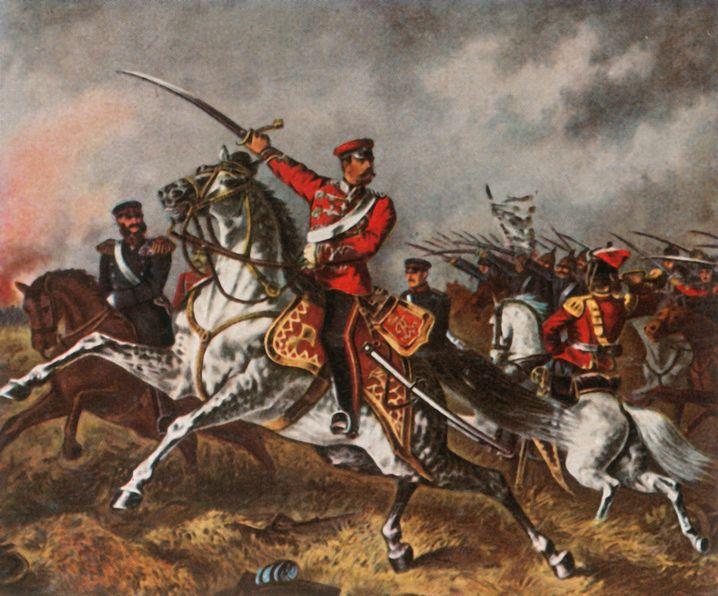 Angriff der Preußen in der Schlacht von Spicheren