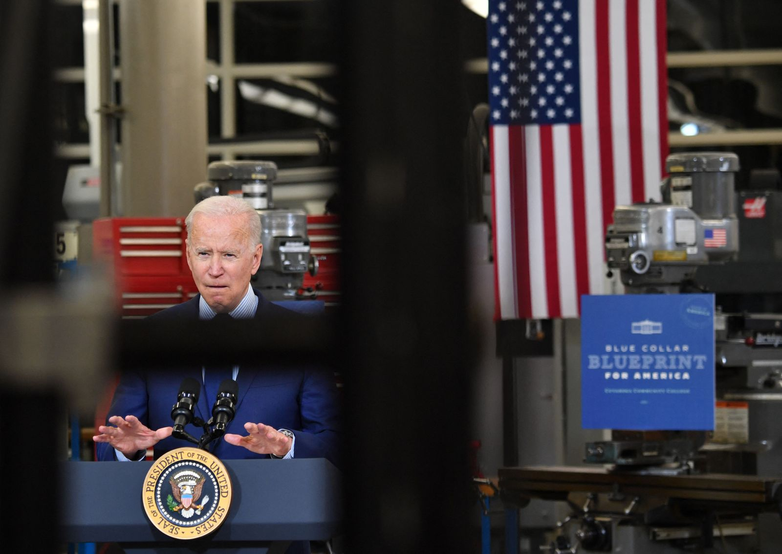 Biden delivers remarks on the economy on visit to Ohio