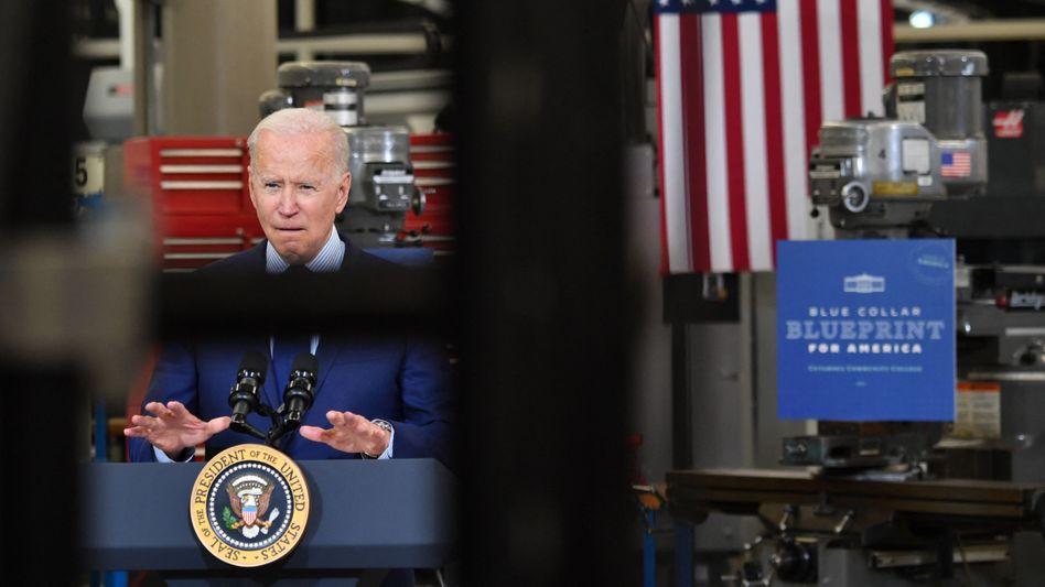 US-Präsident Joe Biden wirbt derzeit im ganzen Land für seinen neuen Infrastrukturplan.