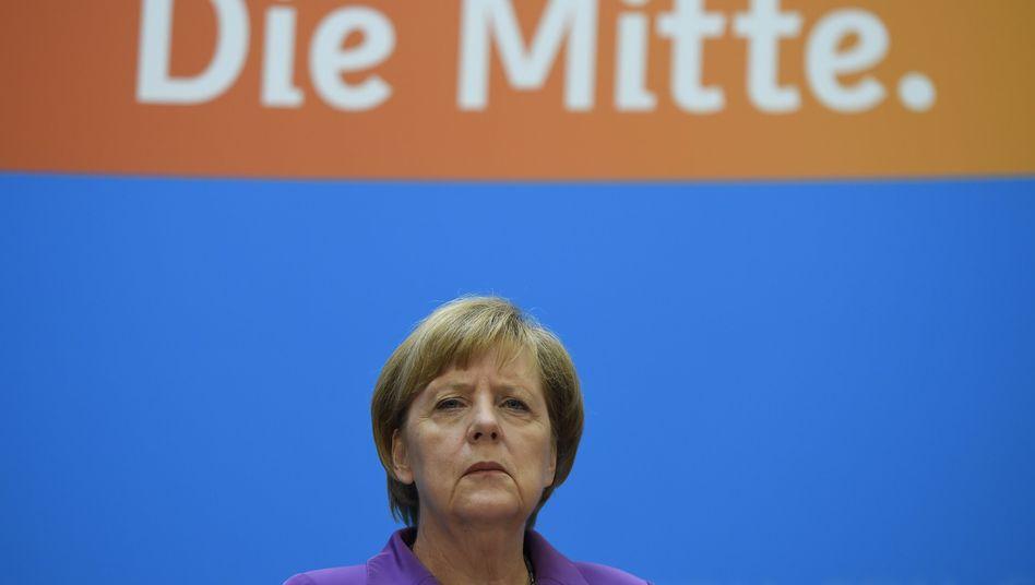CDU-Chefin Merkel: Sorgen wegen der AfD