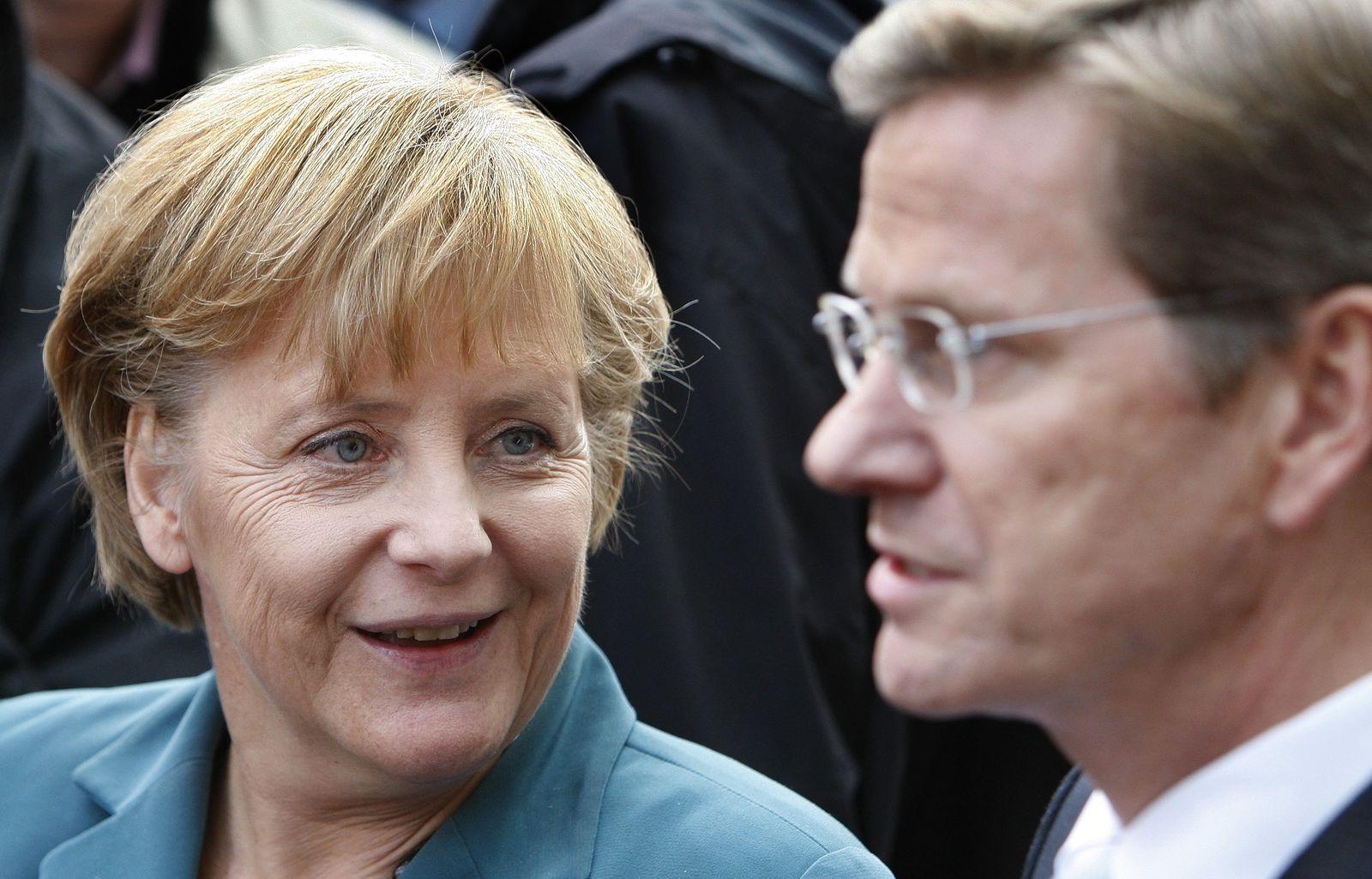 Koalitionsverhandlungen Angela Merkel / Guido Westerwelle