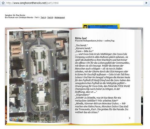 Senghor on the Rocks: Buch im Browser, Google Maps inklusive