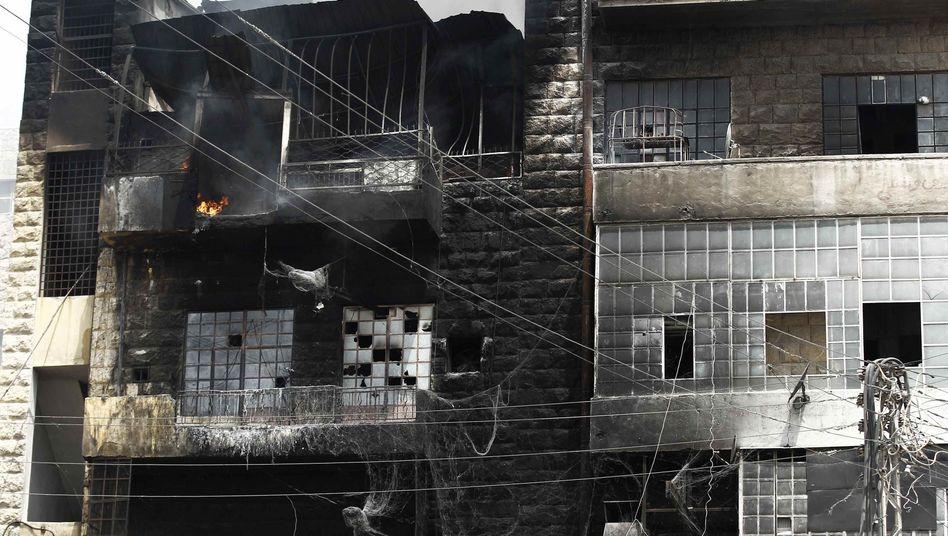 Zerstörtes Gebäude in Aleppos Stadtviertel Sukkari: Kampf um die Wirtschaftsmetropole