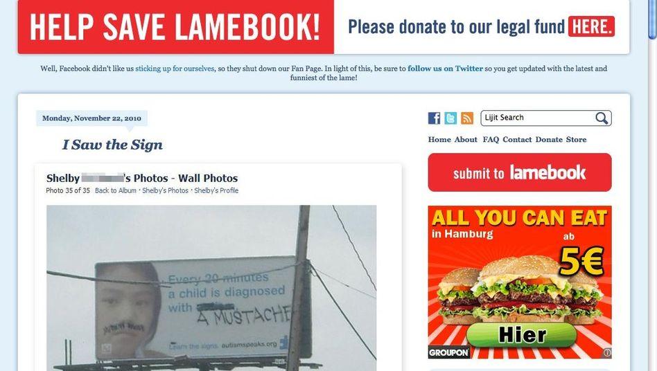 Lamebook-Humor: Das Blog sammelt mehr oder weniger witzige Facebook-Fundstücke